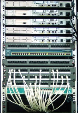 Routers and switches arranged according to server rack!