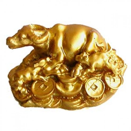 Wish Granting Cow Symbol in Feng Shui is symbolic of good descendants luck, wishes fulfilled and good fortune to households.