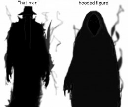 Drawings of shadow people