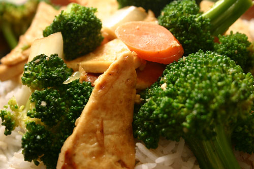 sweet ginger broccoli stir-fry recipe with tofu
