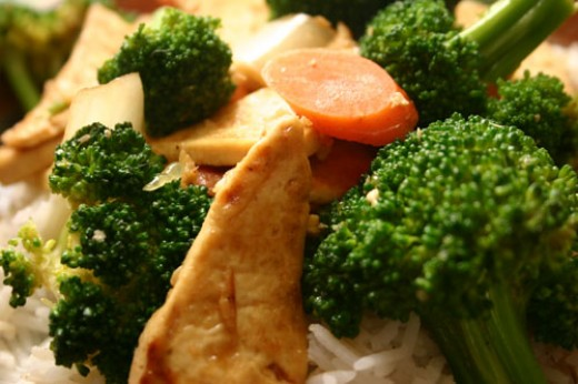 Sweet Ginger Broccoli Stir-Fry Recipe with Tofu or Chicken