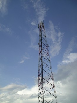 Cell tower in Jamaica.  Photo by Glendon Caballero