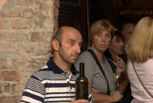 Choosing the right wine for the starters with Claudio, the wine maker