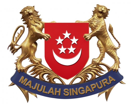 Golden Coat of Arms of Singapore