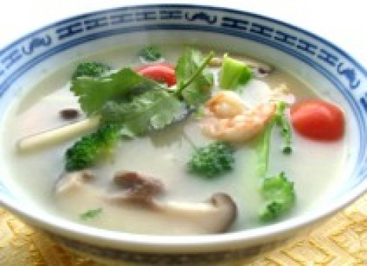 Tom Yum Kung is a classic spicy Thai soup picture courtesy of http://thaifood.about.com/od/oodlesofnoodles/r/tyumnoodles.htm