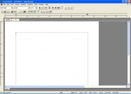Figure 6, The word processor is now up and running.