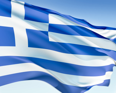 Complete History Of Greece, the flag of Greece is represented by a cross symbolising their greek orthadox faith, the blue for the ocean and the white represents waves on the ocean