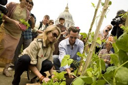 1.San Francisco's New Victory Garden   Mayor Gavin Newsom helps Slow Food Nation plant the first edible garden at City Hall since 1943. During World War II, civilians across the country were encouraged to aid the war effort by growing their own food
