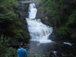 Me checking out the top and middle section of Raymondskill falls.