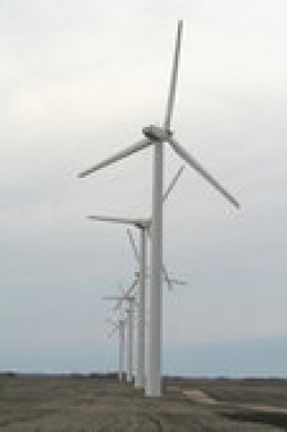 Modern windmills generate green electrical energy