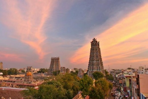Over-view of Meenakshi temple-Madhurai