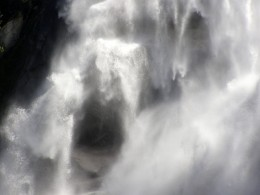 The 'face' of the powerful, plunging cascade of water Photo by C.Borthwick all rights reserved