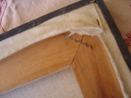 Put a corrugated fastener behind, in between the two front fasteners.