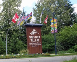 Welcome to Whistler, B.C., playground to countless celebrities Photo by C.Borthwick all rights reserved