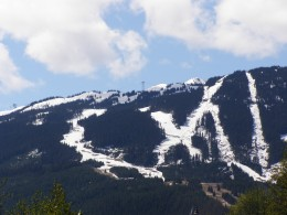 The ski hills of Whistler/Blackcomb, home to a vast network of trails Photo by C.Borthwick all rights reserved