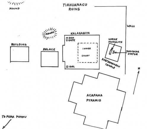 Site map of Tiwanaku
