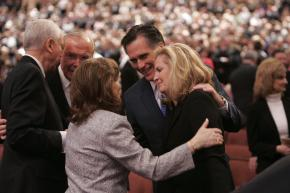 Mitt Romney attended with his wife...