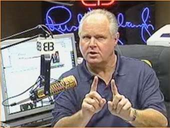 In this corner, Rush Limbaugh.