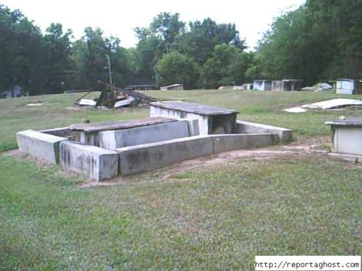 Another view of the Cemetery On Boundary Street In New Berry South Carolina.
