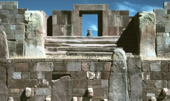 View from the semi-subterranean temple
