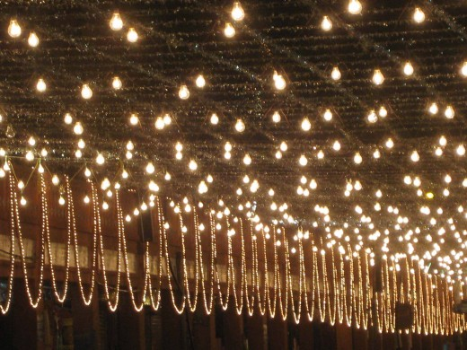 Over head lighting at Johri Bazar, Jaipur  Photo 1