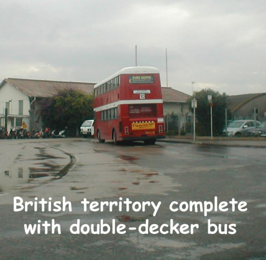 This day it was even raining on the double-decker bus