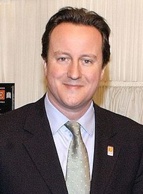 David Cameron:  Money is on his Tory government to be in power next year.    wiki photo