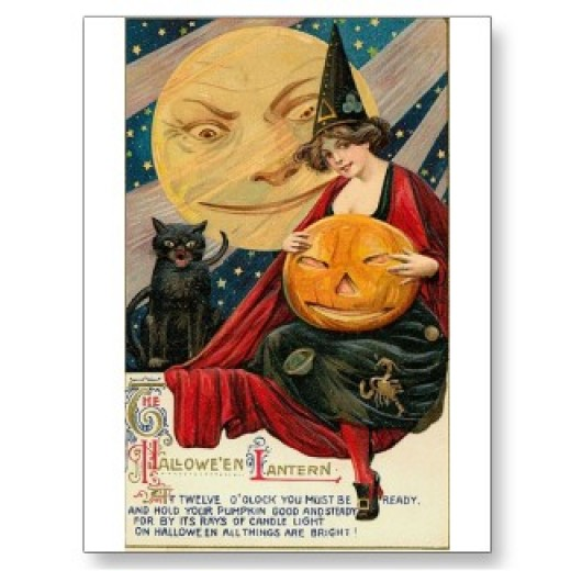 Vintage Halloween Postcards at Zazzle.com