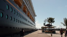 Another picture of the Disney Wonder, this time from the port at Nassau.