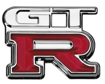The legendary Skyline GTR Badge