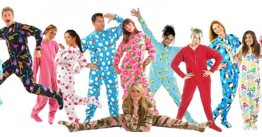 They're not just for children anymore! Adult footie pajamas come in a wide variety of patterns.