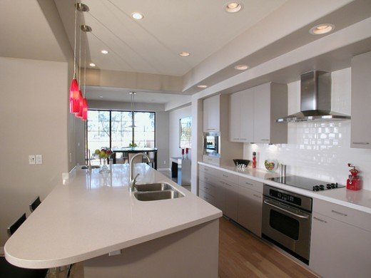 Kitchen Breakfast Bar Designs:: Kitchen Sink in a Breakfast Bar.