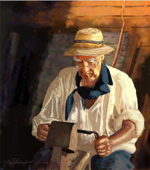 """Woodworker"" by Barry Thomas"