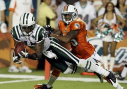 Even though the Jets lost, Braylon Edwards had a big game against the Dolphins