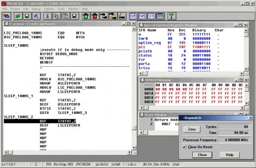Microchip mplab screenshot