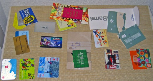 Gift cards (photo credit: Wikimedia Commons)