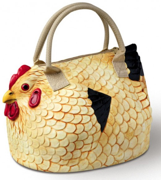 Show some whimsy with a ladies chicken handbag!