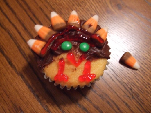 This is the Turkey Cupcake we made