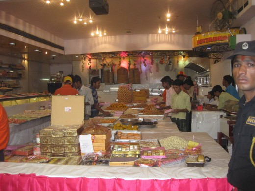Sweet shop in Diwali mood