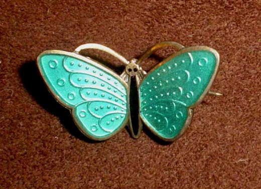 Tiny Aksel Holmsen butterfly brooch