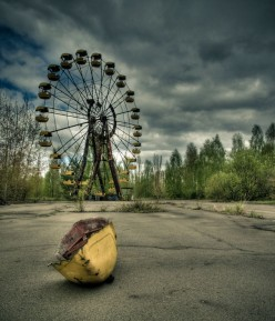 Chernobyl (Ukraine  Chornobyl) Nuclear Power Station Disaster - Empty and overgrown playground