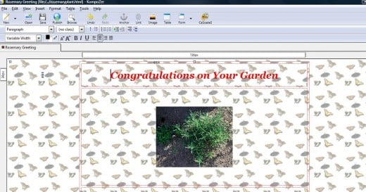 Simplified sample with font, image and background image in HTML editor