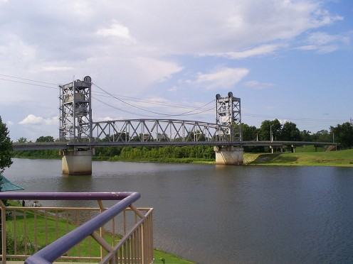 The Jackson Street Bridge.