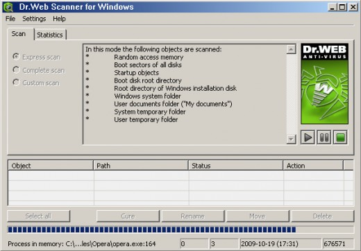 DrWeb CureIt Scanner for Windows