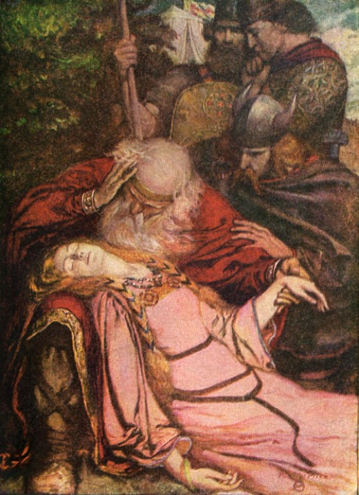 King Lear and Cordelia  Credit: Google Images