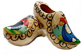 Some colorful authentic clog shoes.