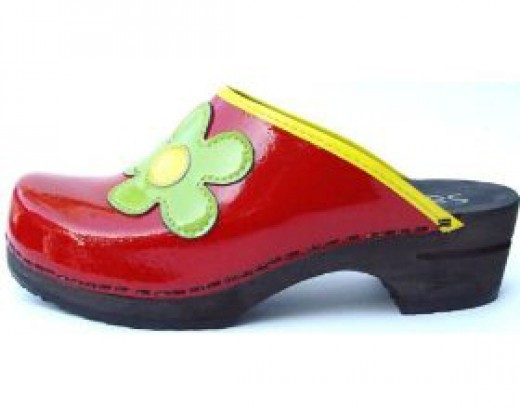 Cute women's modern clog shoes.