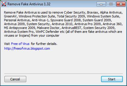 Snapshot of RemoveFakeAntiVirus