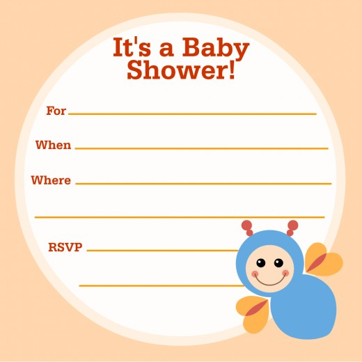 Free busy bee baby shower invitation -- for boys or girls