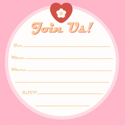 Free hearts and flowers baby shower invitation -- pink for girls